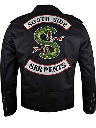 Cordura Snake - Dizller Cordura Serpents Riverdale Southside Jacket - Black - XS