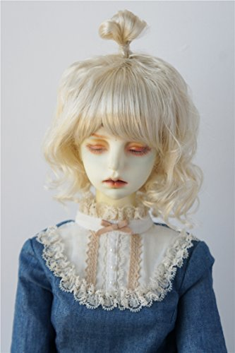JD375 8-9inch 21-23CM Updo synthetic mohair BJD wigs 1/3 SD doll hair and accessories - Blonde Mohair