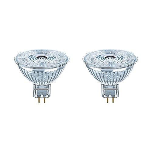 OSRAM LED reflectorlamp   Lampvoet: GU5.3   Warm wit   2700 K   3,80 W   LED STAR MR16 12 V [Energie-efficiëntieklasse A…
