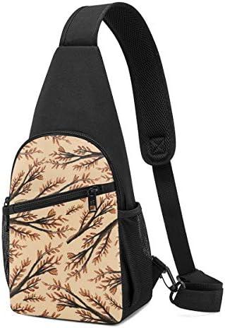 ボディ肩掛け 斜め掛け 秋の木 ショルダーバッグ ワンショルダーバッグ メンズ 軽量 大容量 多機能レジャーバックパック