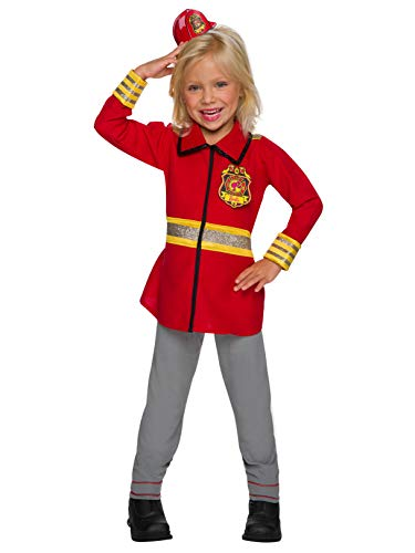 Rubie's Costume Co Barbie Career Childrens Costume, Firefighter, Medium