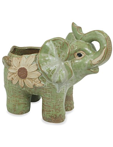 Dahlia Daisy Elephant Handmade Ceramic Succulent Planter/Plant Pot/Flower Pot, Mother For Sale