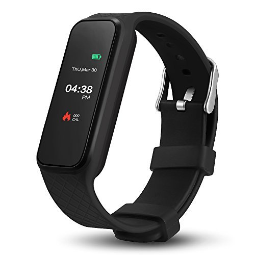 Smart Fitness Bracelet,1.06 Inch Color Touch Screen Fitness Bracelet,Support IOS 7.0 ,Android 4.3, BT 4.0, IP67 Waterproof Smart Fitness Watch Black