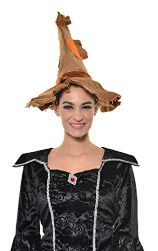 Halloween Scarecrow Pumpkin Party Cosplay Witch HAT - ONE Size G1355 ()