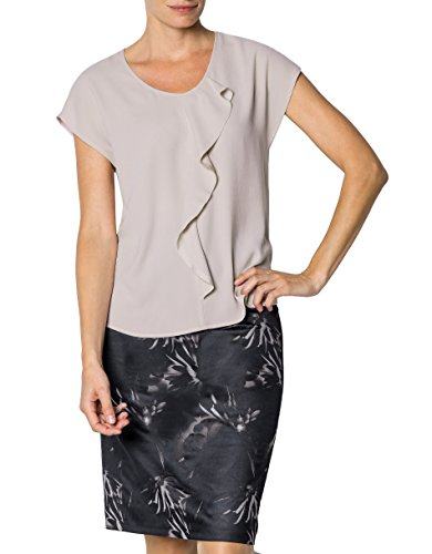 RENÉ LEZARD Damen Bluse Mikrofaser Blusenshirt Unifarben, Größe: 36, Farbe: Rosa