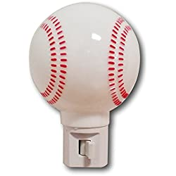 Baseball Night Light with on and Off Switch - Fun Sports Theme Is Great for Kids Children's Rooms and Nurseries