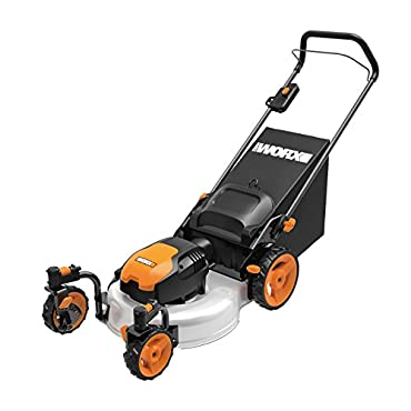 WORX WG719 13 Amp Caster Wheeled Electric Lawn Mower, 19