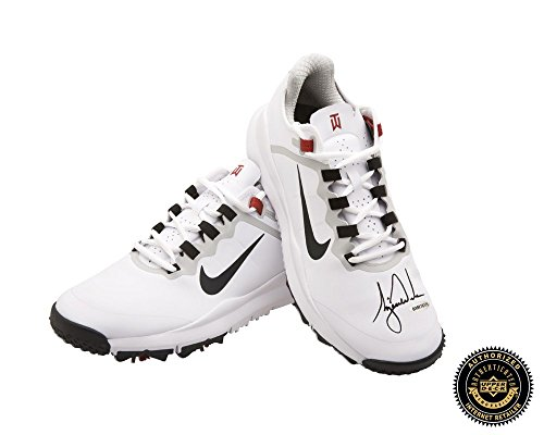 Tiger Woods Autographed/Signed Nike Golf Shoes - White