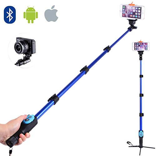 selfie stick sufum handheld extendable wireless bluetooth selfie stick monopod with remote for. Black Bedroom Furniture Sets. Home Design Ideas