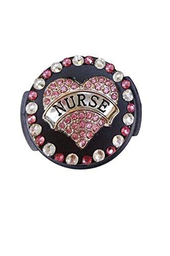Designed Stethoscope ID Tag (Nurse Heart Banner Steth Tag)