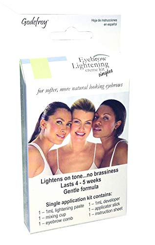 Godefroy Eyebrow Color Lightening Crème Single Use Application 2 PACK