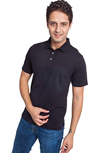 Ably Apparel Ranger Classic Polo | Repels Liquids, Stains, and Odors Black