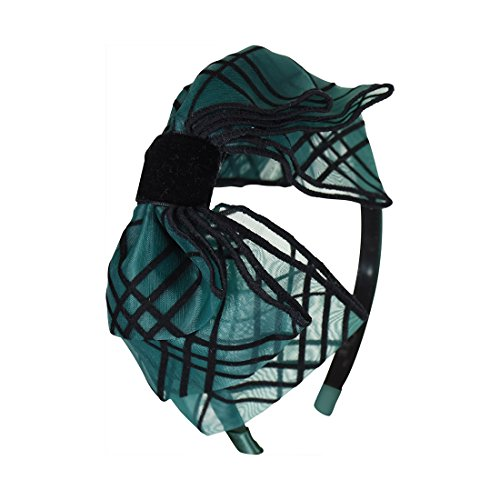 Organza Bow Headband - Organza & Velvet Holiday Bow Head Band - Green