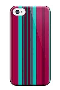 Hot Fashion FMrRdCV3341sWuWd Design Case Cover For Iphone 4/4s Protective Case (bright Multicolor Stripes )