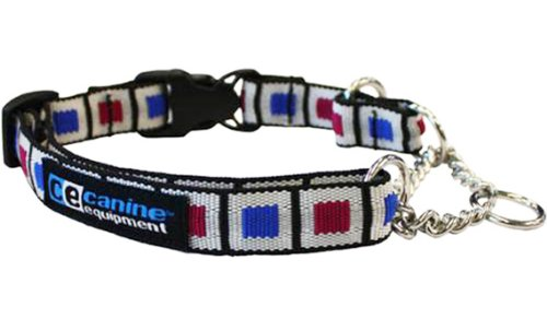 Canine Equipment Ultimate 1-Inch Quick Release Martingale Dog Collar, X-Large, Picture Frames