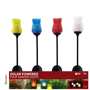 Alpine YCC161ABB Solar Candle Stake with LED Lights - Assorted Tray by Alpine