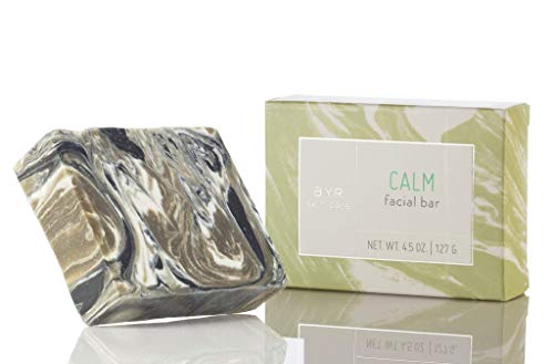 Ayr Skin Care Calm Facial Bar Soap | Natural, Organic Ingredients | With Activated Charcoal, Tumeric, and Sea Clay | 4.5 oz