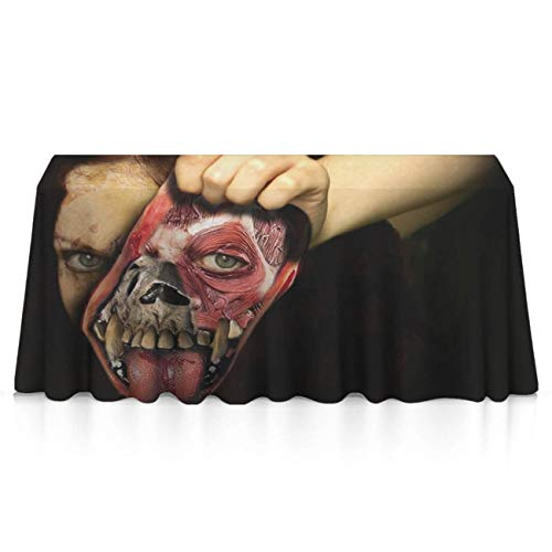 GLORY ART Rectangle Tablecloth - Halloween Scary Horror Clown - Waterproof Washable Polyester Fabric Table Cloth Cover for 8 Foot Table for Dinner/Decor/Banquet/Restaurant/Indoor/Outdoor((60