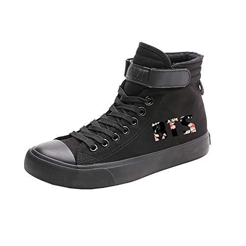 Ocasionales Alta De Lazada Transpirables Lona Ayuda Spring Bts Black12 Caballero Zapatos BHqpE