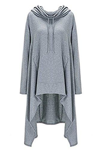 Yallmarket - Sudadera con capucha - para mujer gris