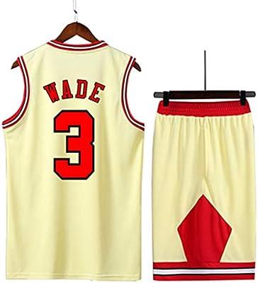 LYX-B Bulls, Uniforme de Baloncesto, Jersey de Hombre, Negro, Rojo ...