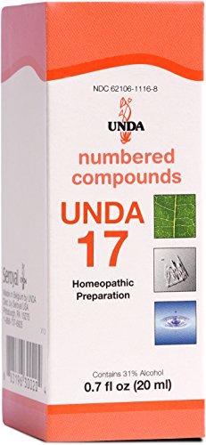 UNDA - UNDA 17 Numbered Compounds - Homeopathic Preparation - 0.7 fl oz (20 ml) ()
