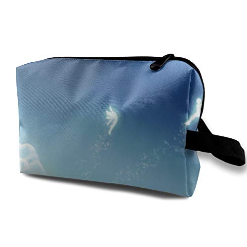 (With Wristlet Cosmetic Bags Fairy Tail Travel Portable Makeup Bag Zipper Wallet)