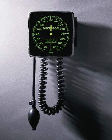 31902500 Aneroid Sphygmomanometer McKesson LUMEON Wall Mount 2-Tube Adult Arm ()
