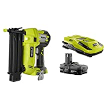 Ryobi P320-P128 18-Volt One+ AirStrike 18-Guage Cordless Brad Nailer with Battery and IntelliPort Charger by Ryobi