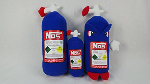 (NOS Nitrous Oxide Bottle Tank Pillow Cushion JDM Bride Eat Sleep Live (Small Headrest Bottle))