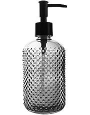 Top-Spring 12 Oz Glass Soap Dispenser, Refillable Lotion Soap Dispenser for Bathroom, Kitchen, Hand Soap, Dish Soap
