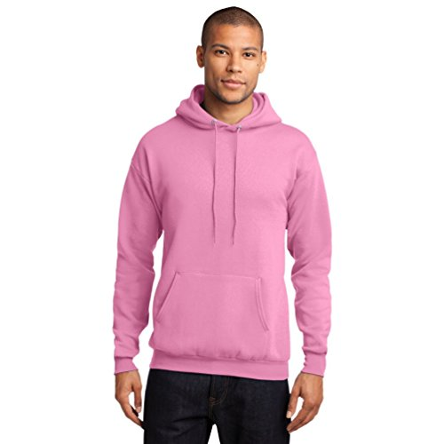 Port & Company Men's Classic Pullover Hooded Sweatshirt 4XL Candy Pink