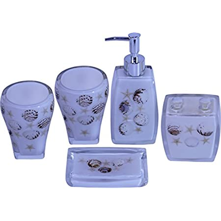 41twu7CfUHL._SS450_ 50+ Beach Bathroom Accessory Sets and Coastal Bathroom Accessories