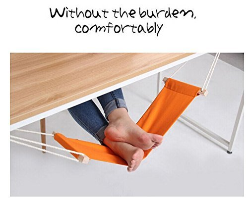 stillcool-adjustable-mini-foot-rest-stand-office-desk-feet-hammock-orange