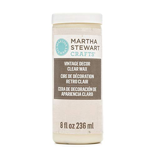 Martha Stewart Crafts 33562 Martha Stewart Home Decor Wax: Vintage, Clear, 8 oz,