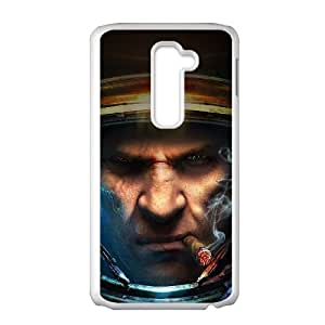LG G2 Cell Phone Case White Starcraft Face Art SUX_036906
