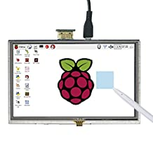 """SunFounder 5"""" HD TFT LCD Touch Screen Monitor Display HDMI 800X480 for Raspberry Pi 3, 2 Model B and Raspberry Pi 1 Model B+"""