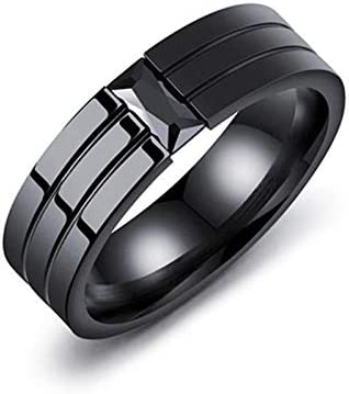 Black Men Ring Titanium Carbide Men S Jewelry Wedding Bands