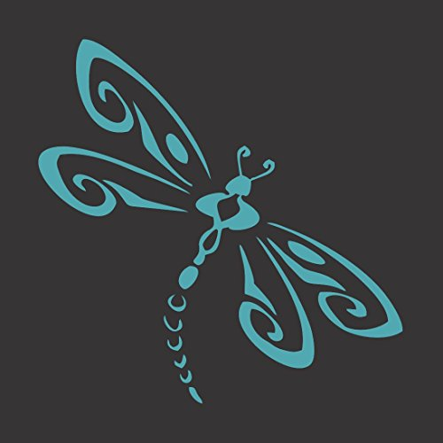 Barking Sand Designs Turquoise Blue Dragonfly - Die Cut Vinyl Window Decal/Sticker for Car/Truck - Windows Window Dragonfly
