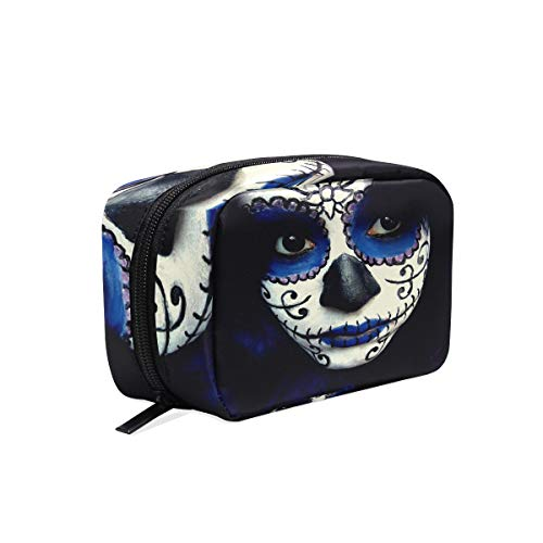 Cosmetic Bag Guy Sugar Skull Makeup Girls Makeup Organizer Box Lazy Toiletry -