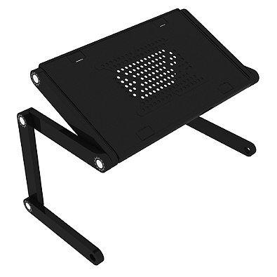 Flex Desk Plastic Adjustable Height Portable Desk in Black, Non-slip Tabs,Transforms into Multiple Positions, Auto-lock Feature, Easy Storage, 10 lb. Weight Capacity