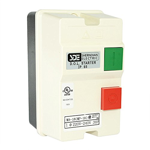 220 3 Phase (Big Horn 18823 1-Phase, 220-240-Volt, 3-HP, 18-26-Amp Magnetic Switch)