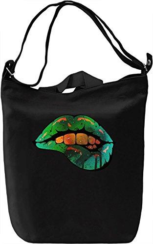 Sexi Lips Borsa Giornaliera Canvas Canvas Day Bag| 100% Premium Cotton Canvas| DTG Printing|