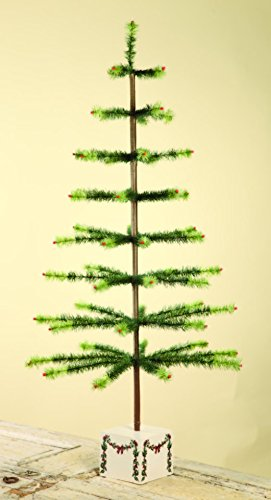 """BETHANY Lowe 50"""" Green Variegated Feather Christmas Tree ..."""
