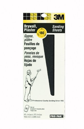 Pack Drywall (3M 99439NA Pro-Pak Drywall Sanding Screens 180-Grit, 4-3/16 by 11-1/4-Inch, 10-Pack)