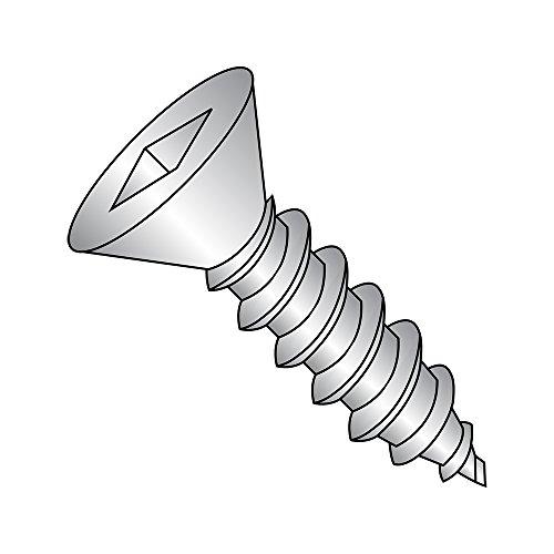 18-8 Stainless Steel Sheet Metal Screw, Plain Finish, 82 deg
