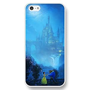 Diy Disney Cartoon Movie Beauty and The Beast White Hard Plastic For SamSung Note 2 Case Cover