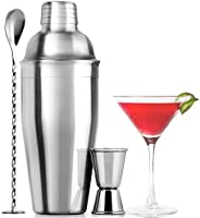 Zulay (24oz) Cocktail Shaker Set - Professional Drink Shaker, Jigger & Cocktail Spoon Set - Premium Stainl