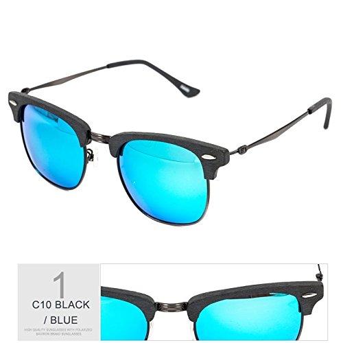 Mano Gafas Gafas De De BLUE En De Gafas De Haciendo Metal Unisex BLACK TIANLIANG04 Madera Tendencia Gafas Naranja De Sol Moda Polarizadas Retro Sol Negro Sol aRnOwZ8