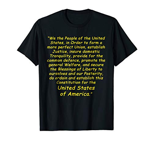 Preamble to the Constitution Tee Shirt